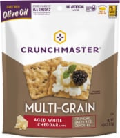 Crunchmaster Multi-Grain Aged White Cheddar Crackers