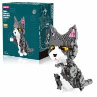 Fluffy Kitten 3D Puzzle Nano Blocks - 1300 Blocks