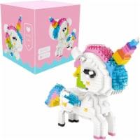 Rainbow Unicorn 3D Puzzle Nano Blocks - 640 Blocks