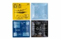 Star Wars Melamine Plate Set - 4 Pieces - Vehicle Schematics - 1 Each