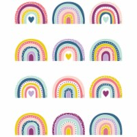 Oh Happy Day Rainbows Mini Accents, Pack of 36 - 1