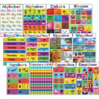 Colorful Early Learning Small Poster Pack, 12 Posters - 1