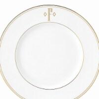 Lenox 9 in. dia. Federal Gold Monogram Block Accent Plate - F