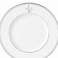 Lenox 9 in. dia. Federal Platinum Monogram Block Accent Plate - L