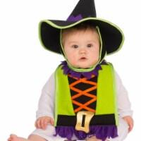 Rubies 278645 Halloween Baby Witch Bib & Hat Costume - One Size - 1
