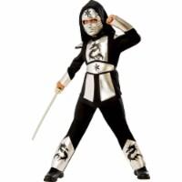 Rubies 278997 Halloween Boys Silver Dragon Ninja Costume - Medium