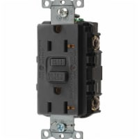 Hubbell Wiring Device-Kellems GFCI Receptacle,20A,125VAC,5-20R,Black  GFRST20BK - 1