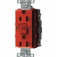 Hubbell Wiring Device-Kellems GFCI Receptacle,20A,125VAC,5-20R,Red  GFRST20R - 1
