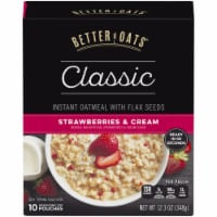 Better Oats Classic Strawberry & Cream Instant Oatmeal 10 Count