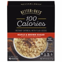 Better Oats 100 Calories Maple & Brown Sugar Instant Oatmeal 10 Count