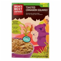 Mom's Best Naturals Toasted Cinnamon Squares - Case of 14 - 17.5 oz. - 17.5 OZ