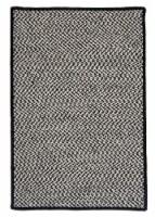 Colonial Mills Outdoor Houndstooth Tweed Rugs - Black