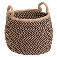 Colonial Mills Preve Basket - Taupe/Black