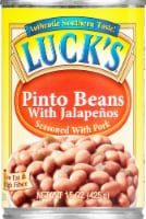 Luck's Authentic Southern Pork Seasoned Pinto Beans with Jalapenos