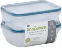 Snapware Total Solution Plastic Food Storage - 2 pc - Clear/Blue