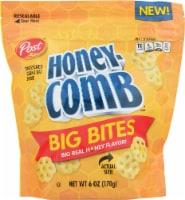 Post Honey-Comb Big Bites Sweetened Corn & Oat Snack - 6 oz