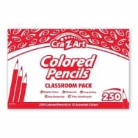 Cra-Z-Art Colored Pencils, 10 Assorted Lead/Barrel Colors, 250/Set 740011 - 1
