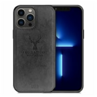 Alpha Digital Luxury Soft Texture Deer Patterned TPU Cloth Protective Case for iPhone13 Pro M - 1 unit