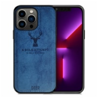 Alpha Digital Luxury Soft Texture Deer Patterned TPU Cloth Protective Case for iPhone13 Pro, - 1 unit