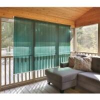 CASTLECREEK Polyethylene Fabric Roll Up Window Sun Shade, 6 x 6 Ft, Hunter Green - 1 Piece