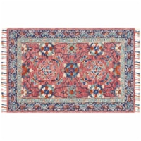 Loloirugs ZHARZR-03RODE5076 Zharah Rose And Denim Transitional Area Rug, Red - 5 ft. x 7 ft.