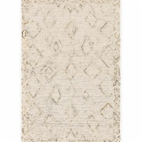 Loloi Rugs LEELLEE-03IVLJ3656 3 ft. 6 in. x 5 ft. 6 in. Leela Ivory & Lagoon Contemporary Han