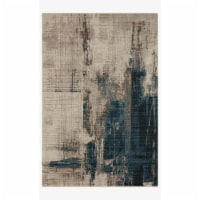 Loloi Rugs LEIGLEI-08SLDE7AAA 7 ft. 10 in. x 10 ft. 10 in. Leigh Slate & Denim Transitional P