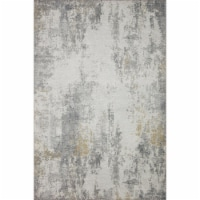 Loloi Rugs DRIFDRI-02IVGN2339 2 ft.-3 in. x 3 ft.-9 in. Drift Abstract Area Rug, Ivory & Gran