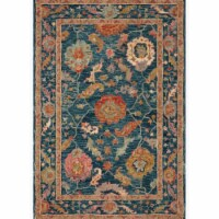 Loloi Rugs PADMPMA-01NNML93D0 9 ft. 3 in. x 13 ft. Padma Marine & Multi Color Transitional Ho - 1