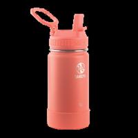 Takeya Active Kids Straw Water Bottle - Coral