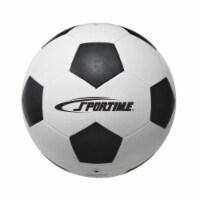Sportime 1599258 No 5 Soccer Ball, Black & White - 1