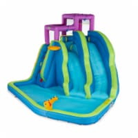 Kahuna 90793 Twin Falls Outdoor Inflatable Splash Pool Backyard Water Slide Park - 1 Unit