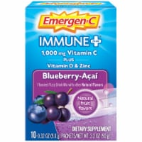 Emergen-C Immune Plus Blueberry-Acai Flavored Fizzy Drink Mix Packets 10 Count