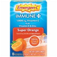 Emergen-C Immune Plus Super Orange System Support Drink 1000mg Mix Packets