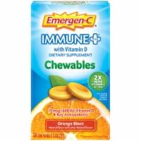 Emergen-C Immune+ Orange Blast Dietary Supplement Chewables 15mcg 14 Count