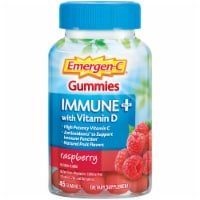 Emergen-C Immune+ with Vitamin D Raspberry Dietary Supplement Gummies