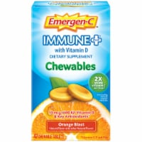 Emergen-C Immune+ Orange Blast Chewables 15mcg 42 Count
