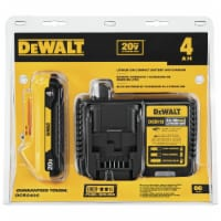 DeWalt  20V MAX  20 volt 4 Ah Lithium-Ion  Compact  Battery and Charger Starter Kit - Case - Count of: 1