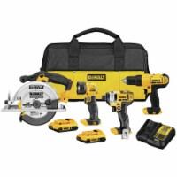 DeWalt 20V MAX 20 volt Cordless Brushed 4 tool Combo Kit - Case Of: 1; - Count of: 1