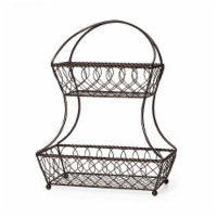 Mikasa Lattice 2-Tier Fruit Basket - Black