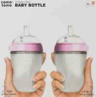 Comotomo  Baby Bottles Twin Set - Pink