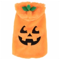 Simply Dog Extra Small-Small Orange Jack-O-Lantern Pet Costume