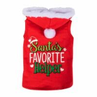 Simply Dog Santa's Favorite Helper Hoodie - Red