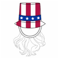 Simply Pet Uncle Sam Bearded Top Hat Pet Costume