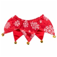 Simply Dog Mission Pets Snowflake Red Bell Scrunchie