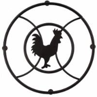 Rooster Series Trivet, Black - 1 Unit