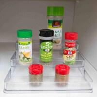 3 Tier Plastic Spice Rack, Clear - 1 Unit