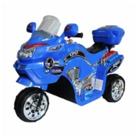 Lil' Rider FX 3 Wheel Motorcycle Battery Powered Bike - Blue Ride on Toy 2 - 4 Yrs Toddlers
