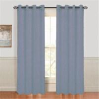Lavish Home Mia Jacquard Grommet Curtain Panel - Grey