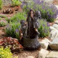 Pure Garden Boy and Girl Water Outdoor Fountain